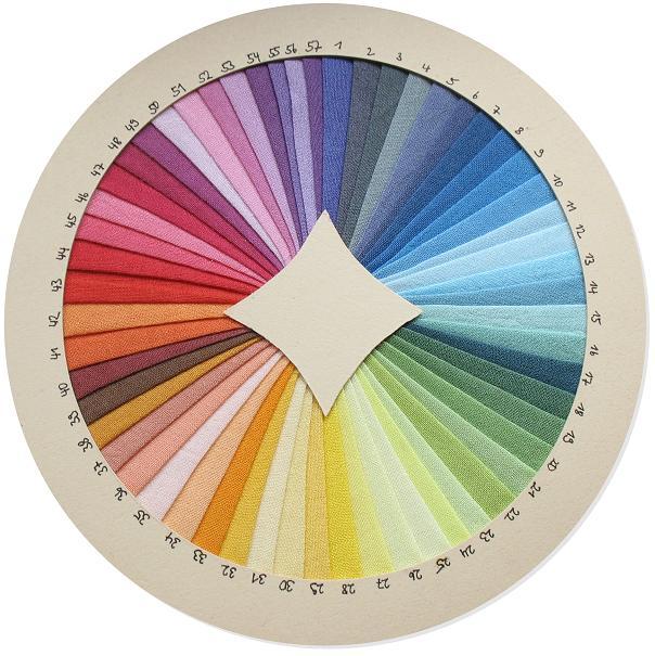 Farbkarte für Spieltücher