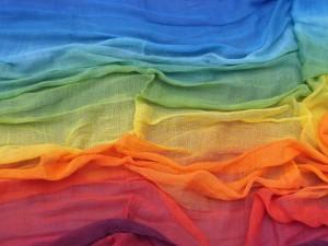 Regenbogentuch Farbenspiel