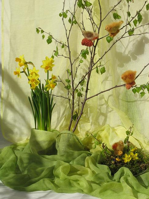 Schattierte Schleiertücher Frühlingswiese und Sommerwiese